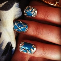 Amazing Balmain-inspired nails