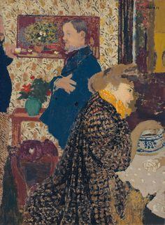 10 things to know about Édouard Vuillard Édouard Vuillard (1868-1940), Misia et Vallotton à Villeneuve, 1899. Oil on board laid down on cradled paper. 27⅝ x 20⅛ in (70.2 x 51.1 cm).