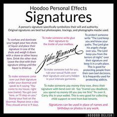 Signatures in hoodoo Hoodoo Spells, Magick Spells, Moon Spells, Spells For Beginners, Witchcraft Spell Books, Voodoo Hoodoo, Practical Magic, Book Of Shadows, The Conjuring