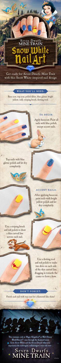 Snow White-inspired nail art