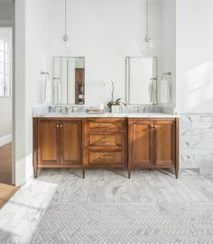 Master Bathroom Tour on twopeasandtheirpod.com