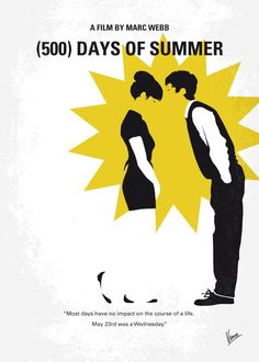 No500 My (500) Days Of Summer minimal movie poster  An offbeat romantic comedy…