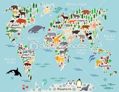 Ilustrao infantil mapa Mundi Brinquedoteca  ViaJando