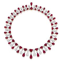 Superb Ruby and Diamond Necklace, by James W. Currens for Faidee