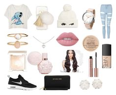 """""""Casual"""" by gervaise-kelly on Polyvore featuring Ashlyn'd, Kate Spade, NIKE, Cartier, Topshop, Accessorize, Rimmel, NARS Cosmetics, Jouer and Lime Crime"""