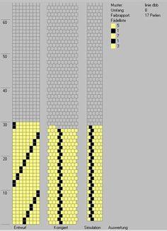 Schlauchketten häkeln - Musterbibliothek: linie