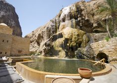Waterfall at the Spa of the Six Senses Ma'in Hot Springs Hotel - Amman, Jordan. the refurbishment have been done by CC Group in 2000 Ruined City, Luxury Spa, Amman, Hot Springs, Oh The Places You'll Go, Where To Go, Travel Destinations, Beautiful Places, Jordan Sneakers
