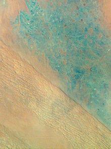 satellite view of Al-Dahna desert in Saudi Arbia
