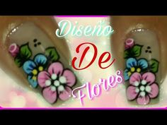 Uñas decoradas fácil de hacer con flor - YouTube