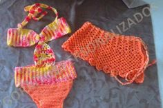 Traje de baño tejido para niñas - Imagui
