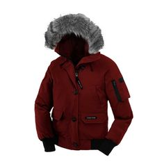 Women Canada Goose Burgundy Chilliwack Bomber Hooded Jacket