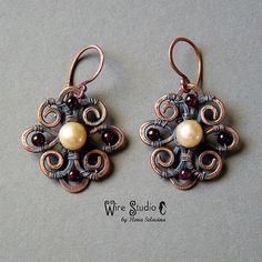 sweet and simple wirework earrings