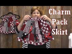 Charm packs are so versatile! The Adorable Charm Pack Skirt tutorial from the Missouri Star Quilt Company.