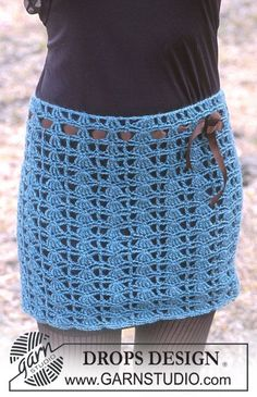 "Falda DROPS de ganchillo, en ""Karisma Superwash"". ~ DROPS Design                                                                                                                                                                                 Más"