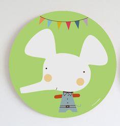 Kids wall art, prints and murals-Cuadros infantiles, láminas y tarjetas para fiestas — Cuadro dot Vito Party- Vito Party wall art!