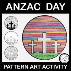 Art activity for Anzac Day, Armistice Day, Veterans Day, Memorial Day, or Remembrance Day. Easy and effective.2 ACTIVITY OPTIONS:Draw your own patterned background on one of the blank templates and then add colour.Add colour to one of the templates that already has a patterned background.2 DIFFEREN... School Resources, Classroom Resources, Poppy Template, Cross Silhouette, Armistice Day, Anzac Day, Spelling Words, Lest We Forget, Remembrance Day
