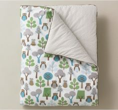Dwell Studio Play Blanket - Owls - Boys Cots - Brisbane Linen for babies - baby nursery and bedroom ideas