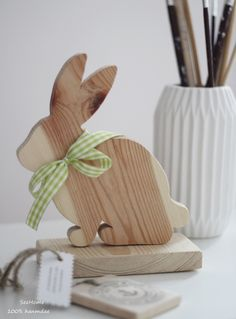 Drewniany zając - SeeHome - Dekoracje