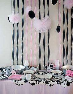 Kara's Party Ideas Moomoos & Tutus Themed Birthday Party regarding Cow Decorations For Birthday Party Cow Birthday Parties, Cowgirl Birthday, Farm Animal Birthday, Farm Birthday, 1st Birthday Girls, Birthday Tutu, Cow Baby Showers, Cowgirl Baby Showers, Second Birthday Ideas