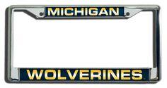 Michigan Wolverines Laser Cut Chrome License Plate Frame