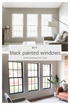 Black Window Frames, Painted Window Frames, How To Frame Windows, Window Frame Ideas, Black Frames, Br House, Apartment Decoration, Home Upgrades, My New Room