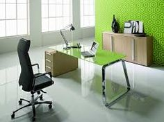 Image result for small study lime green walls curved desk