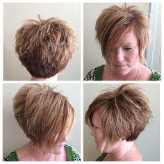 pretty pixie for plus size woman Bob Hairstyles For Thick, Pixie Hairstyles, Pixie Haircut, Cool Hairstyles, Hairstyle Ideas, Funky Short Hair, Short Hair Cuts, High Fashion Hair, Short Hair Trends