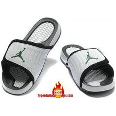 33c73266e31769 Cheap Jordan Hydro 14 Premier White Black Green Sandals