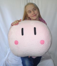 """This Big 16 x 14"""" Light Pink Dango is traveling to Seatac, WA to live with Tesa. www.themintjulepstore.etsy.com"""