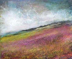 Moorland Heather 2 - Mixed Media on Paper