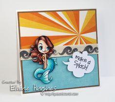 Some Odd Girl - Under the Sea Mae card - Quixotic Cards.