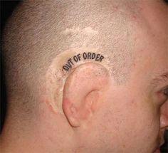 Photos of Weird and Funny Tattoos That Will Make You Laugh - bemethis Fish Bone Tattoo, Bone Tattoos, Weird Tattoos, Funny Tattoos, Unique Tattoos, Body Art Tattoos, Tatoos, Horrible Tattoos, Awesome Tattoos