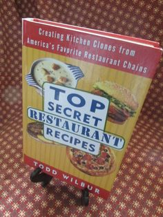 """Vintage Cook Book """"Top Secret Restaurant Recipes"""" by Todd Wilbur by TheBookE on Etsy"""