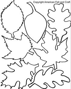 Fall Felt Leaves with Templates - - If you have never seen the New England in the fall you're missing a riot of color. Impossibly bright oranges and yellows fade into russets and mustards. Pops of burgundy, gold, and deep reds …. Leaves Template Free Printable, Maple Leaf Template, Leaf Printables, Felt Templates, Tree Templates, Applique Templates, Fall Leaves Coloring Pages, Leaf Coloring Page, Free Coloring