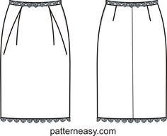 Простая выкройка нарядной юбки   Выкройки онлайн и уроки моделирования