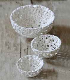 lace inspired bowls
