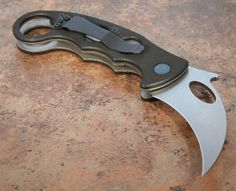 """This Folding Karambit brings you the first in the next generation of folding knives. With the advantage of the Emerson """"wave shaped feature"""", this is one of the finest personal defense weapons ever developed."""