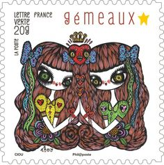 Stamps for the French Post by Ciou