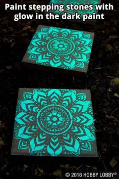 DIY Paint stepping stones with glow in the dark paint