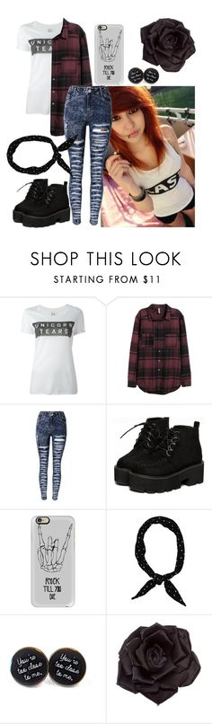 """""""-Willow"""" by falling-backwards-twards-death ❤ liked on Polyvore featuring Zoe Karssen, H&M, Casetify and Johnny Loves Rosie"""