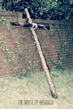 How to build a cross out of tree branches. 6 Activities for Holy Week, the week leading into Easter. How do you cultivate a spiritual focus as you prepare for Easter?