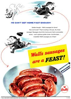 1959 Wall's Sausages ad | Flickr - Photo Sharing!