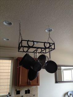 Horse shoe pot rack