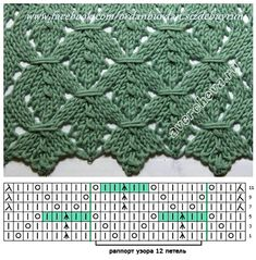 Beautiful knitting stitch with chart - # graphic .-Lindo ponto de tricô com gráfico – # Beautiful knitting stitch with chart – # - Lace Knitting Patterns, Knitting Stiches, Knitting Charts, Crochet Stitches, Baby Knitting, Stitch Patterns, Knit Crochet, Free Knitting, Knitted Baby
