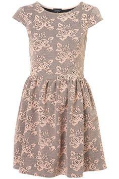 Floral Jacquard Flippy Dress