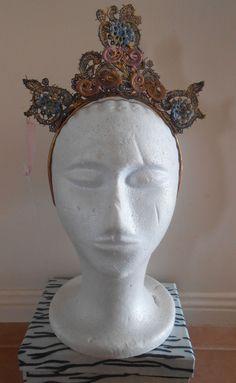 HARAH DESIGNS ANITA VINTAGE LACE CROWN Lace Crowns, Vintage Lace, Designer Dresses, Sculpture, Statue, Art, Art Background, Designer Gowns, Kunst