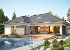 Home Building Design, Building A House, Brick House Designs, House Layouts, Front Yard Landscaping, Home Fashion, Mansions, Landscape, House Styles