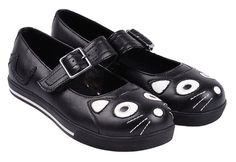T-U-K-Kitty-Cat-Face-Tail-Black-Vulcanized-Mary-Jane-Plimsole-Plimmie-Shoes