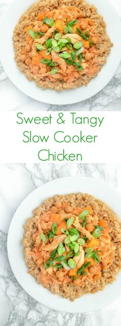 Sweet and Tangy Slow Cooker Chicken - The Lemon Bowl
