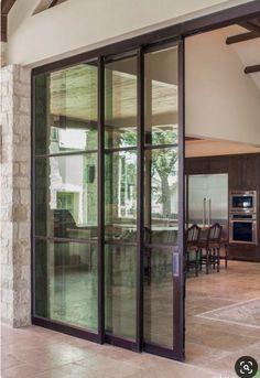 154 Amazing Decorative Glass Doors Ideas Home Decor Glass Door Garden Doors, Exterior Doors, House Design, Sliding Glass Doors Patio, French Doors Exterior, New Homes, Door Design, Interior Sliding Barn Doors, Sliding Glass Door